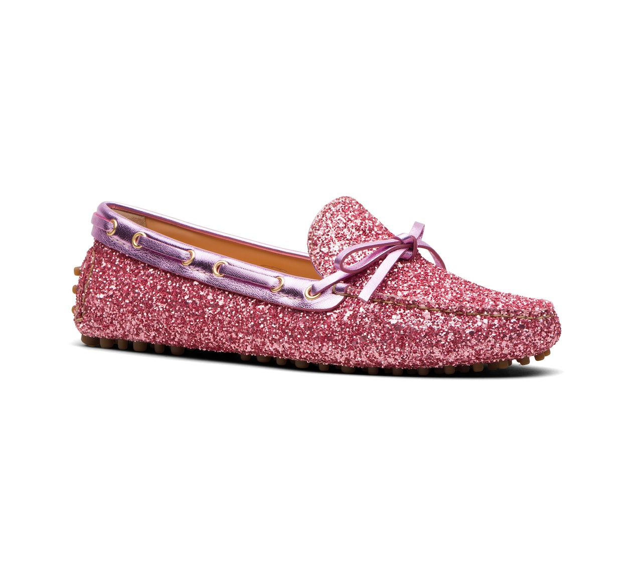 DRIVING SHOES GLITTER ROSA