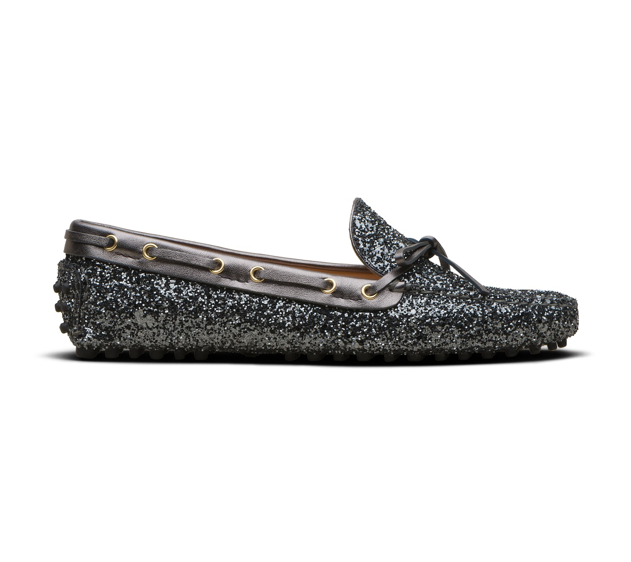 GLITTER DRIVING SHOES GREY