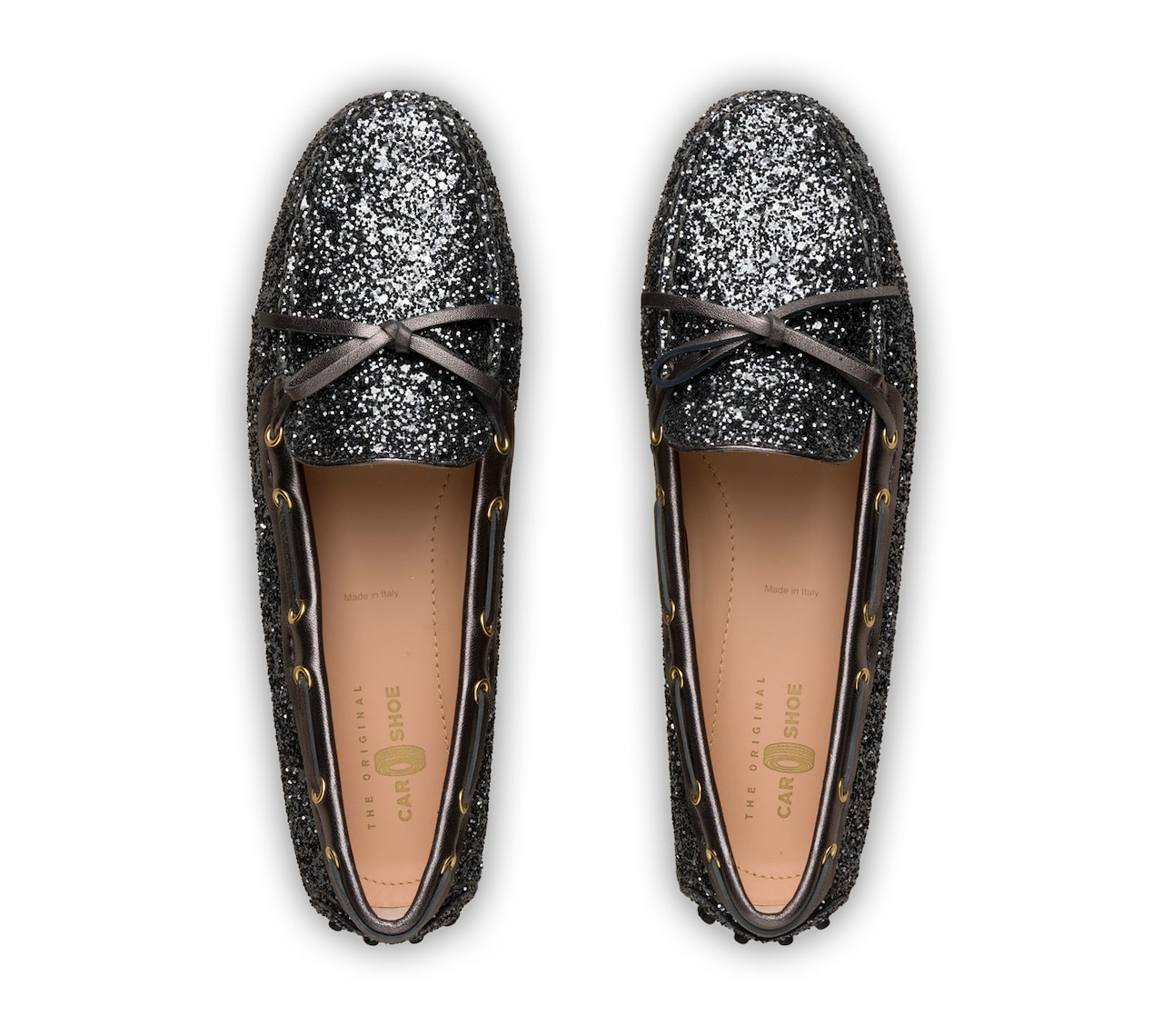 GLITTER DRIVING SHOES
