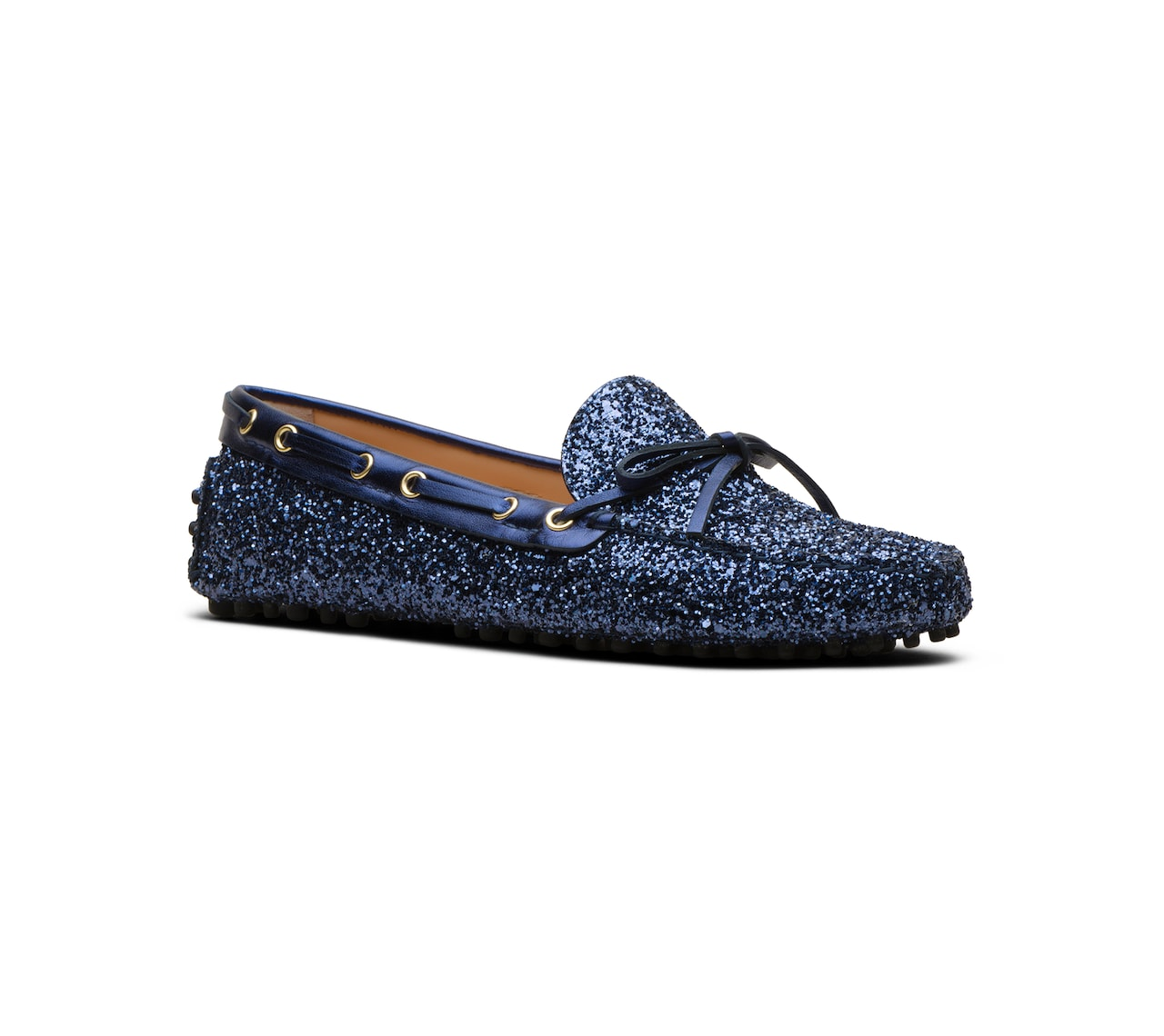 GLITTER DRIVING SHOES BLUE
