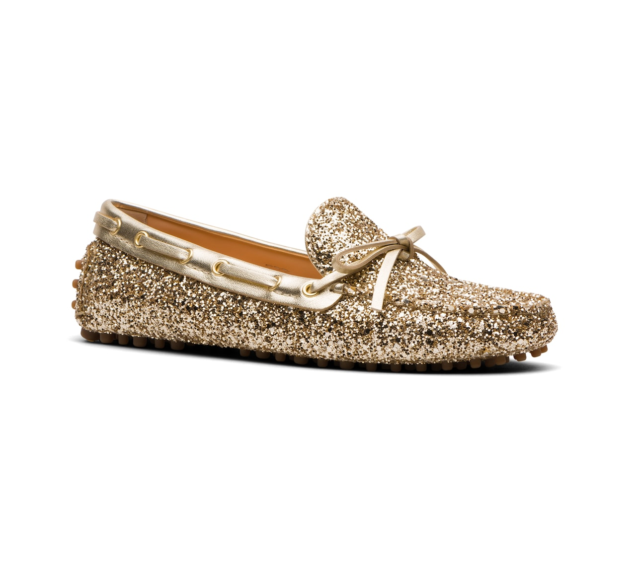 GLITTER DRIVING SHOES GOLD/SILVER