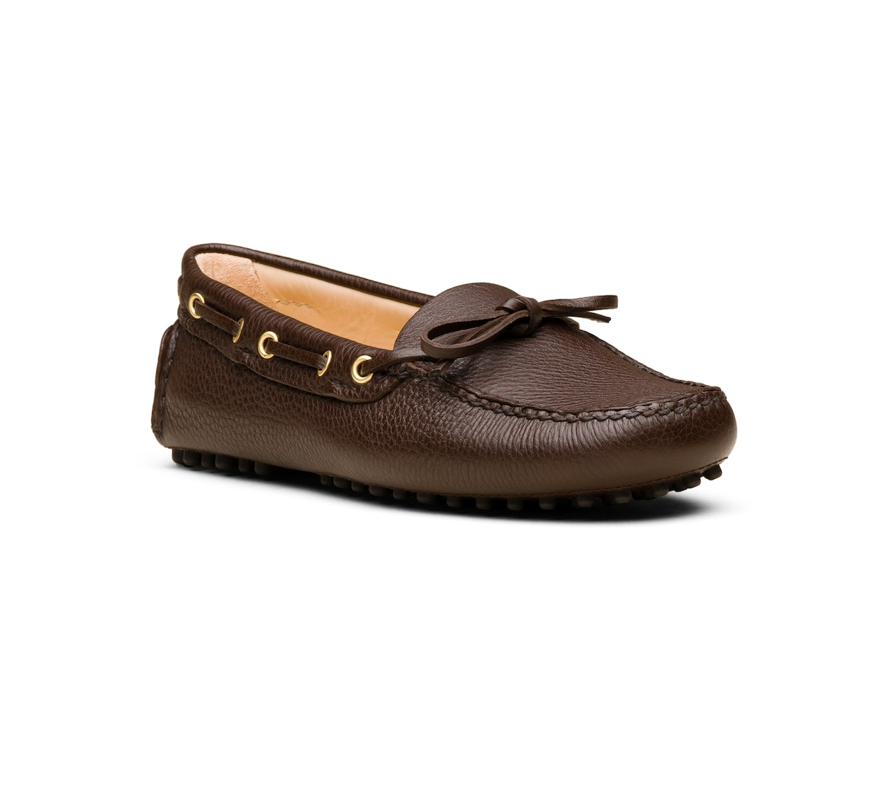 DEERSKIN DRIVING SHOES BROWN