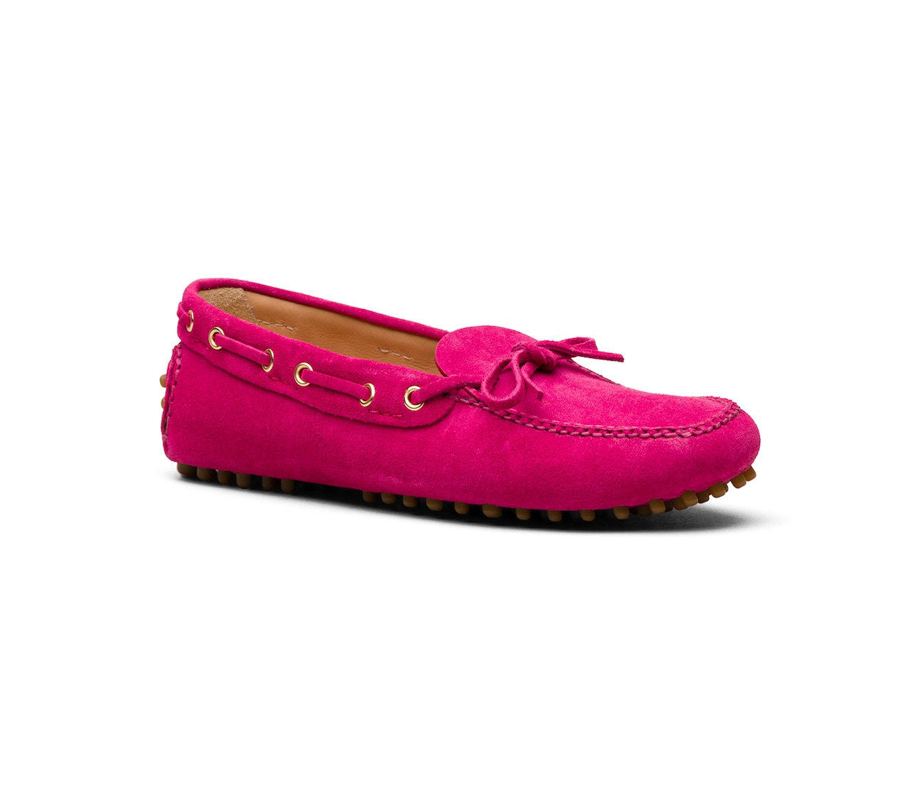 DRIVING SHOES SCAMOSCIATO ROSA