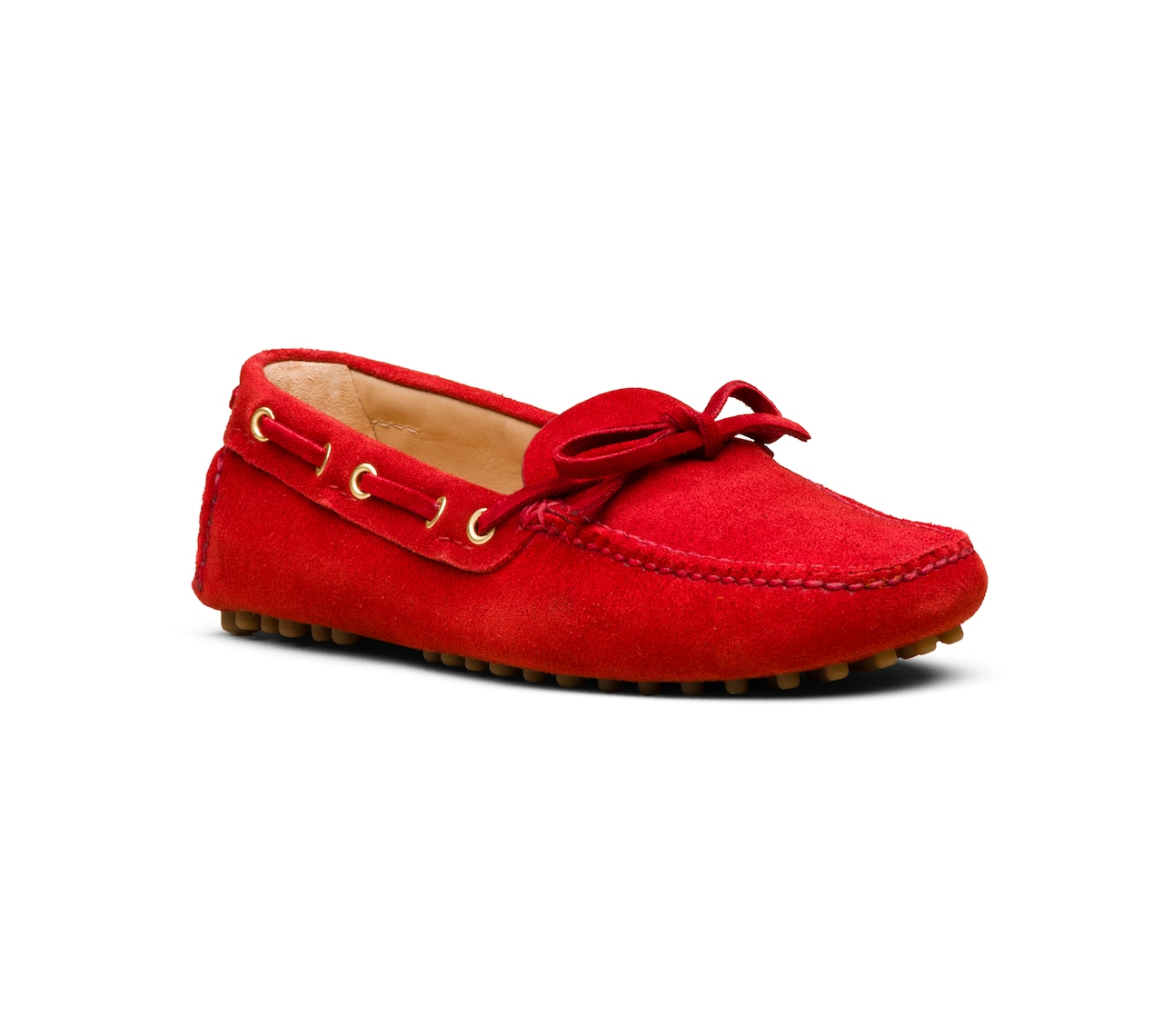 DRIVING SHOES SUEDE RED