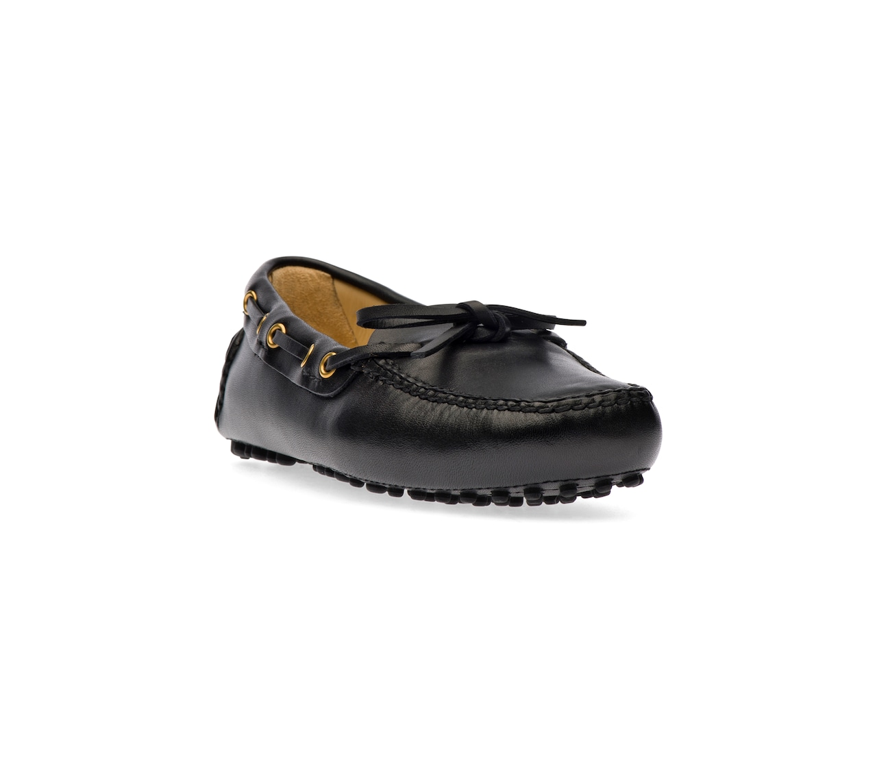 ANTIQUE CALF DRIVING SHOES BLACK