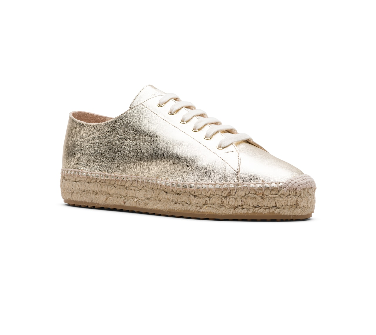 ESPADRILLAS SHOES SOFT LEATHER GOLD/SILVER