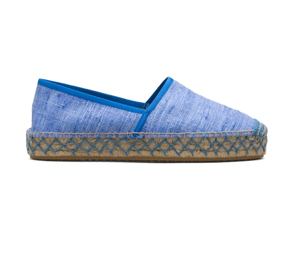 ESPADRILLAS IN UNLINED RAW SILK