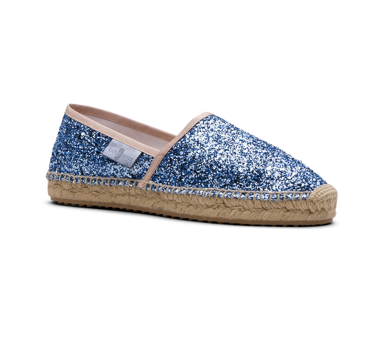 ESPADRILLAS SHOES GLITTER LIGHT BLUE