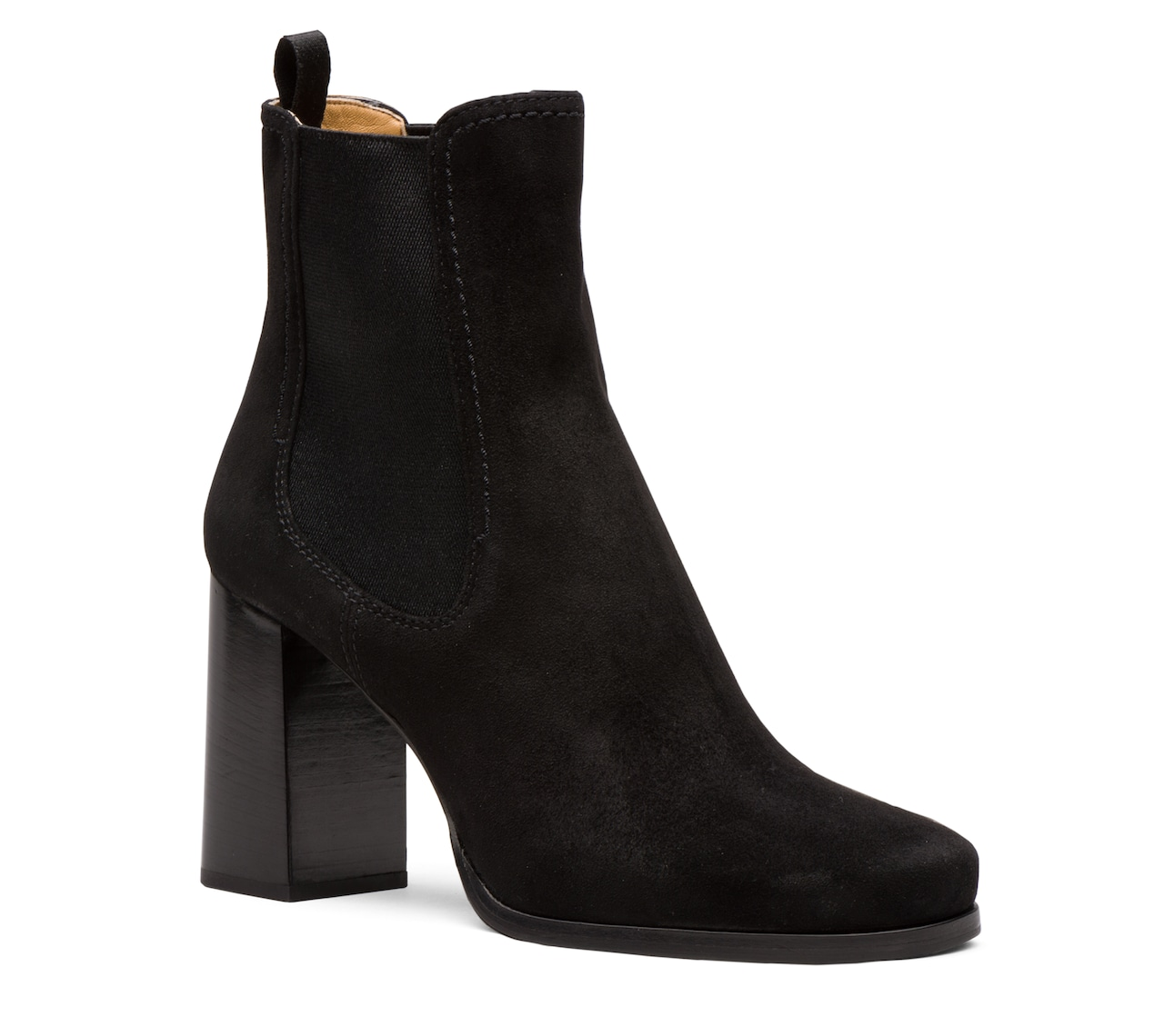 SUEDE BOOTIES BLACK