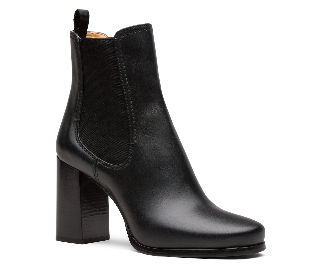 CALF LEATHER BOOTIES BLACK