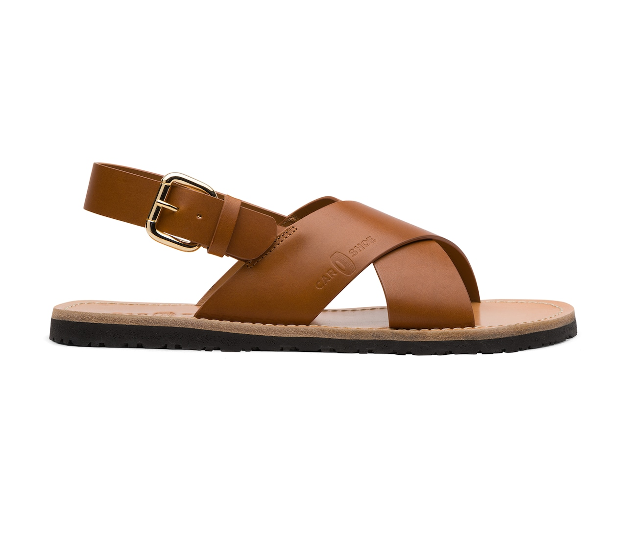 SANDALS IN LEATHER BROWN