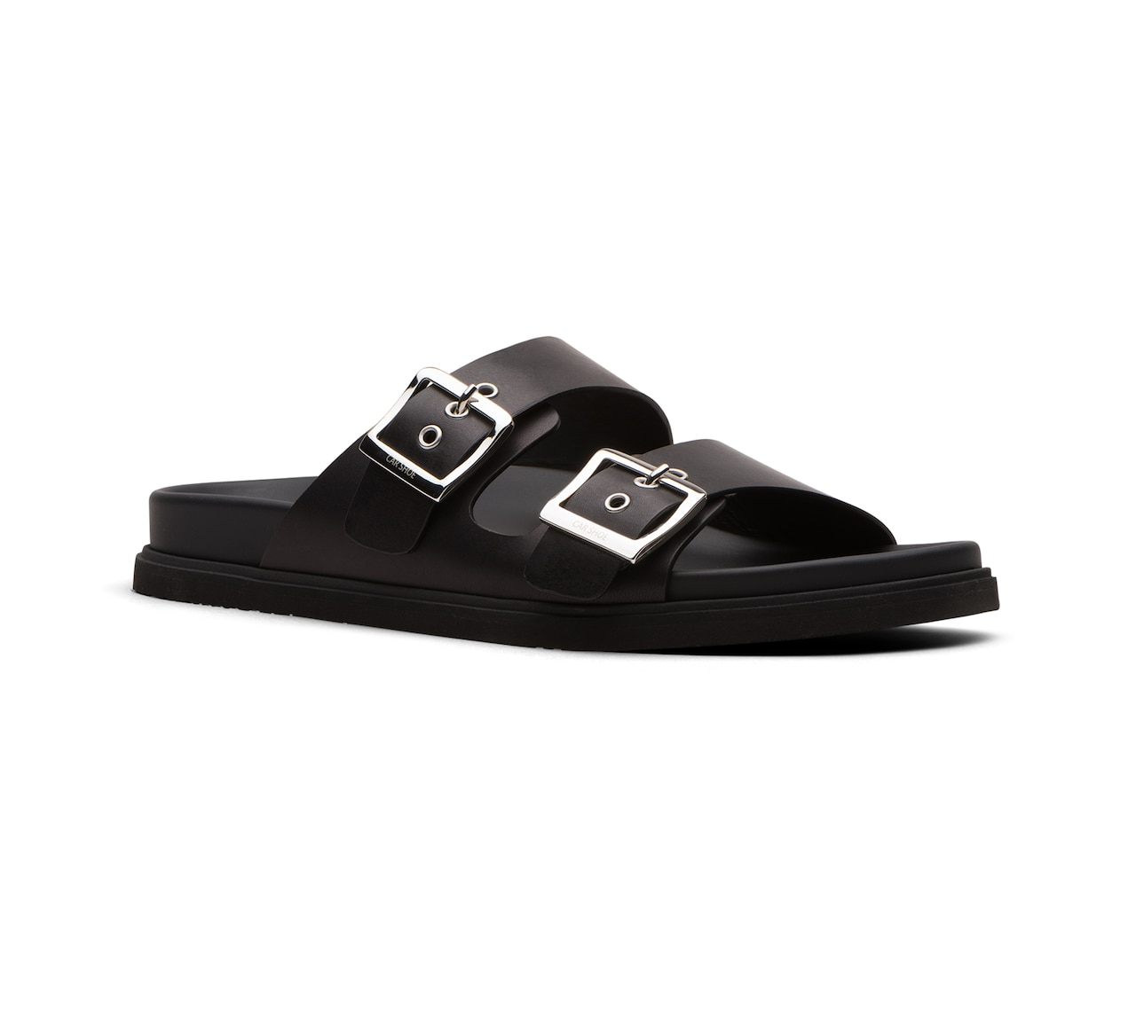 SANDALS IN LEATHER BLACK