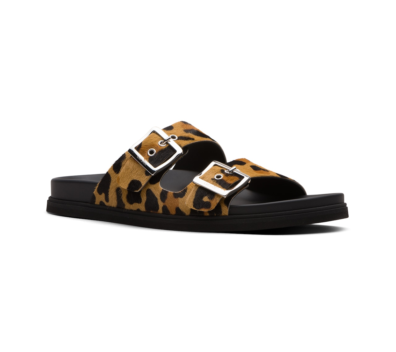 SANDALS LEOPARD PRINT AND LEATHER NEUTRAL