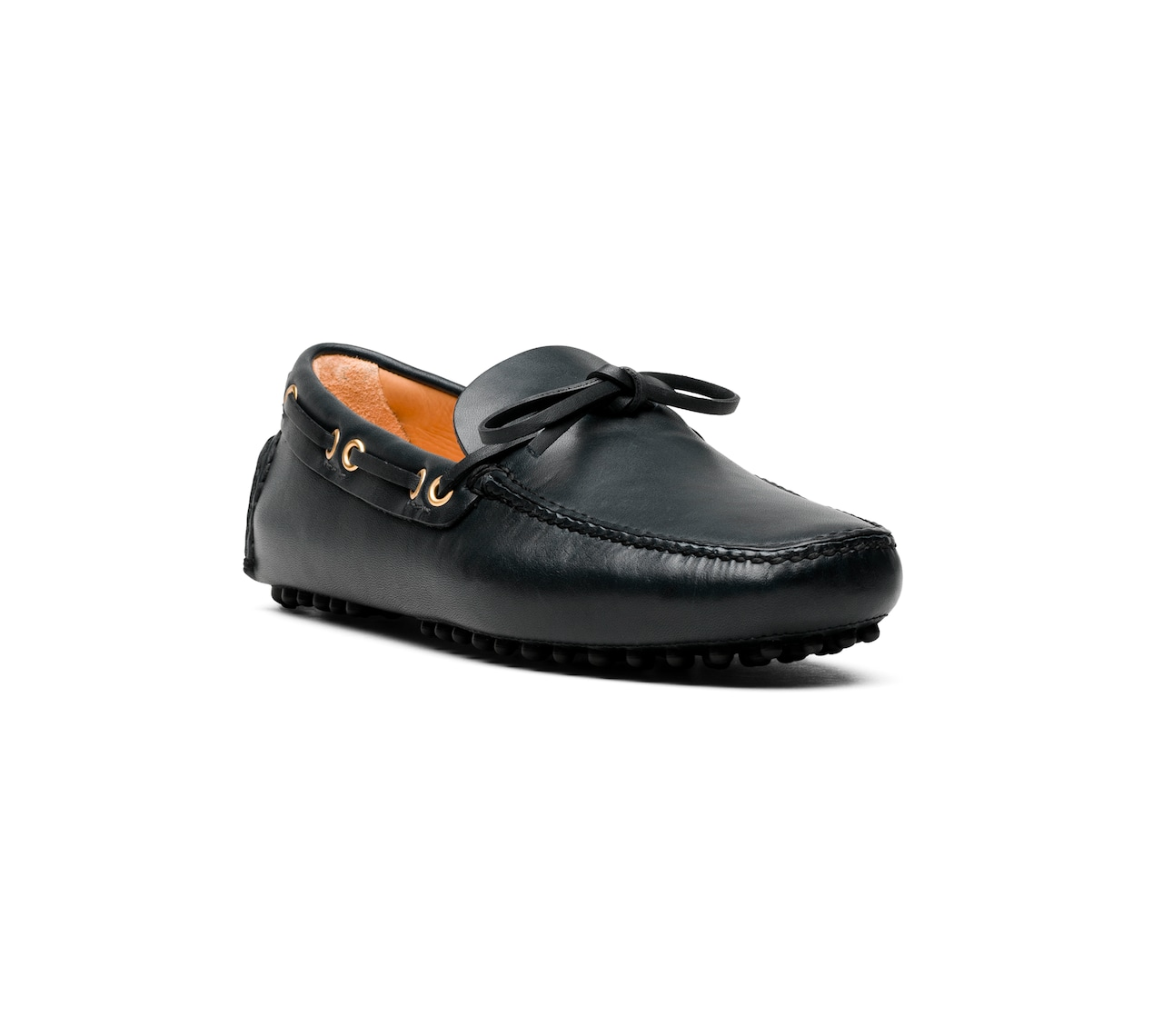 PLAIN CALF DRIVING SHOES BLACK