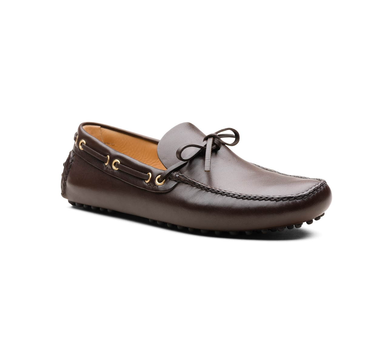 PLAIN CALF DRIVING SHOES BROWN
