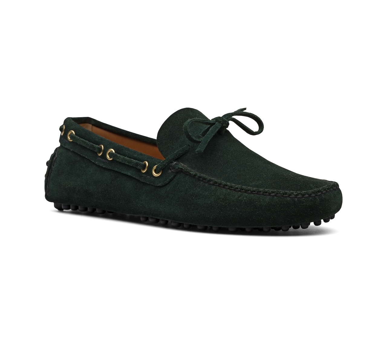 SUEDE DRIVING SHOES GREEN