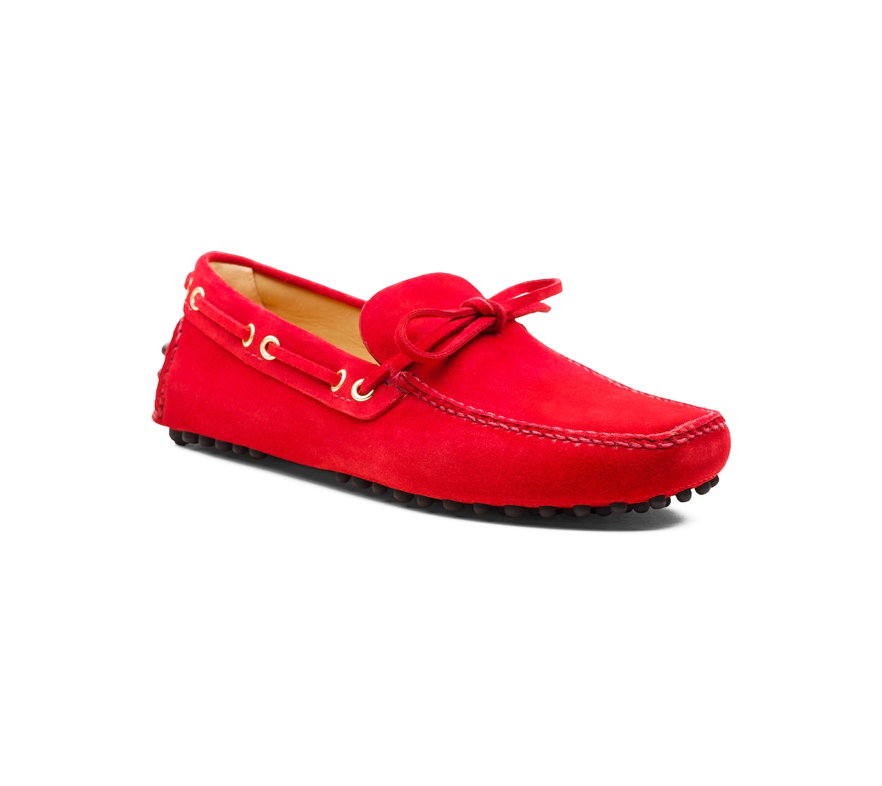SUEDE DRIVING SHOES RED