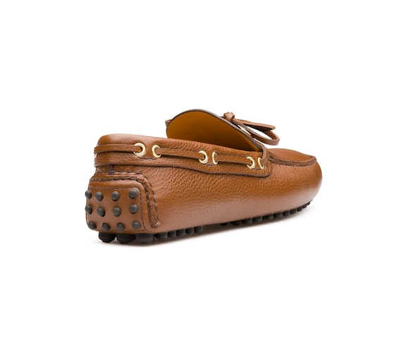 SOFT GRAINED LEATHER DRIVING SHOES