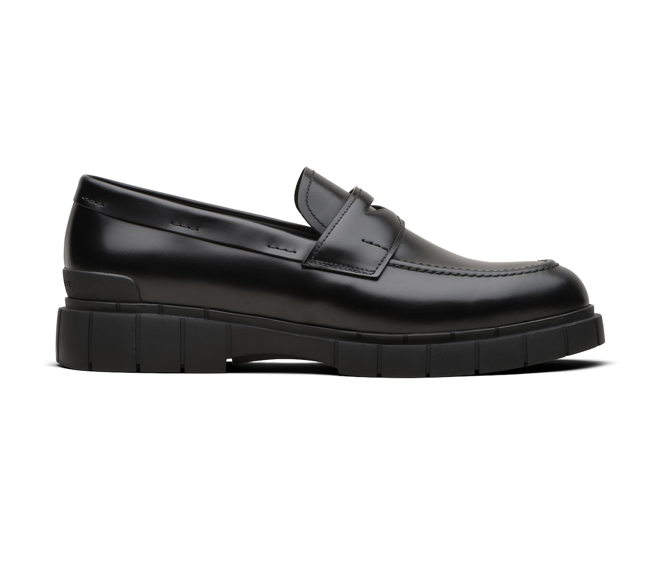 BRIGHT CALF MOCASSINS BLACK