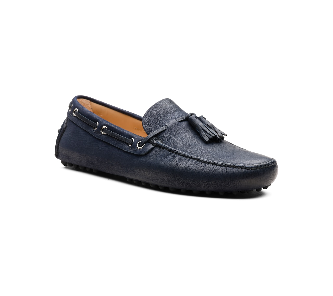 DRIVING SHOES CAPRA ANTIQUE BLU