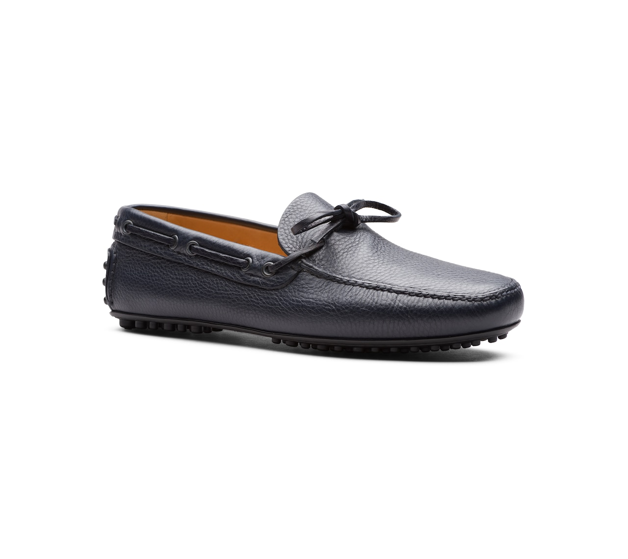 SOFT GRAINED LEATHER DRIVING SHOES BLUE