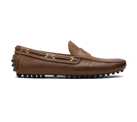 SOFT ANTIQUE GOAT LEATHER DRIVING SHOES