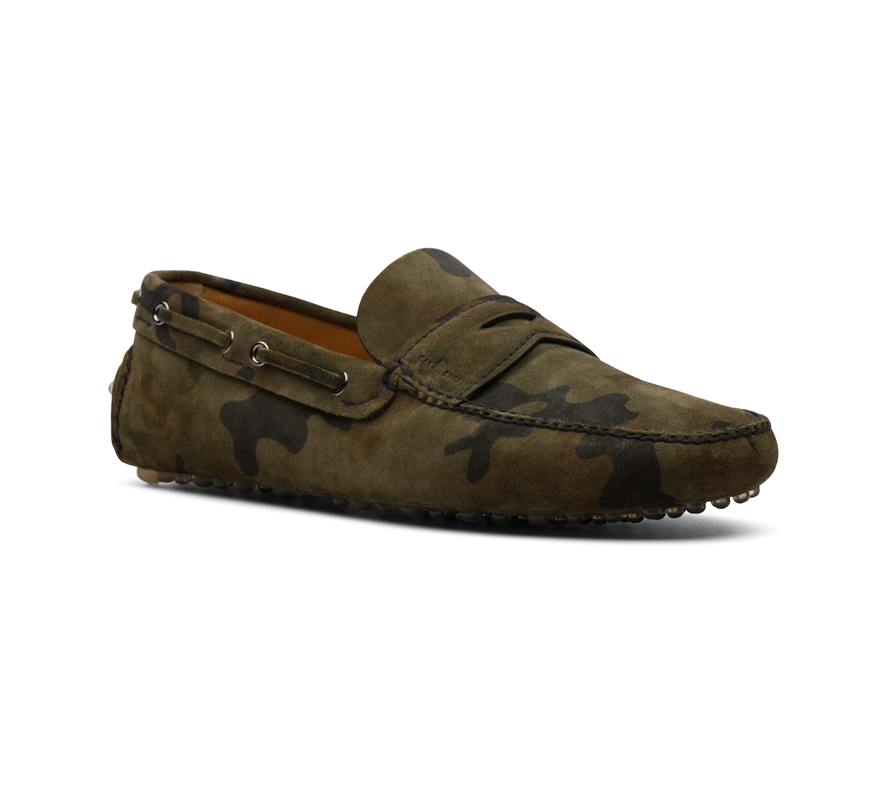 DRIVING SHOES SCAMOSCIATO CAMOUFLAGE VERDE