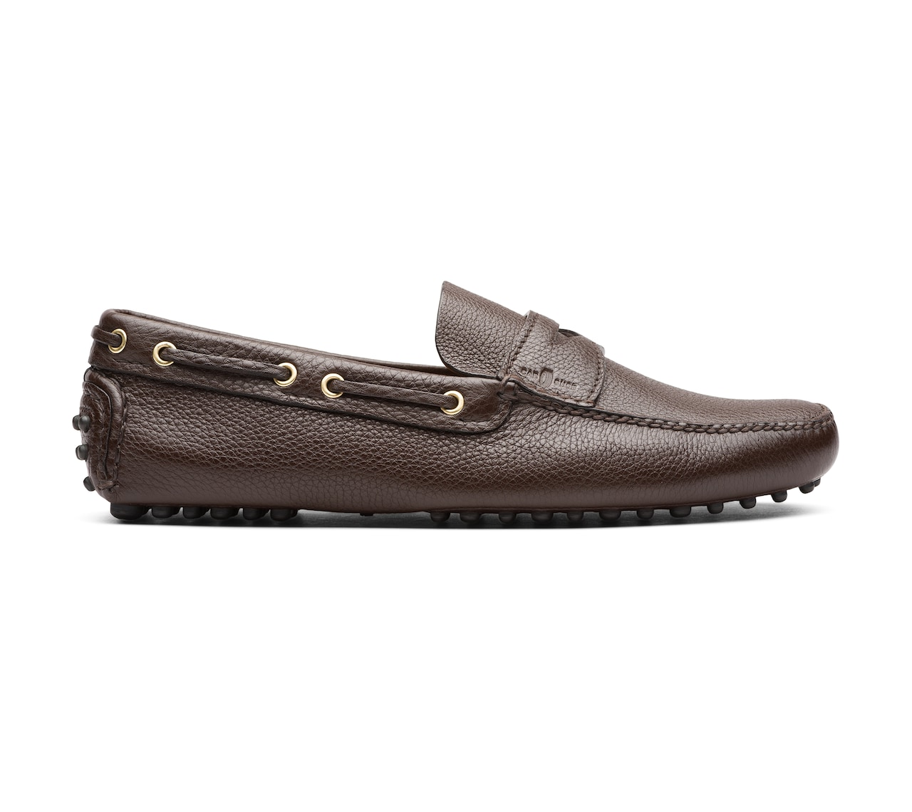 SOFT GRAINED LEATHER DRIVING SHOES BROWN