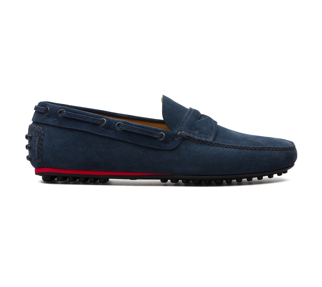 SUEDE DRIVING SHOES BLUE