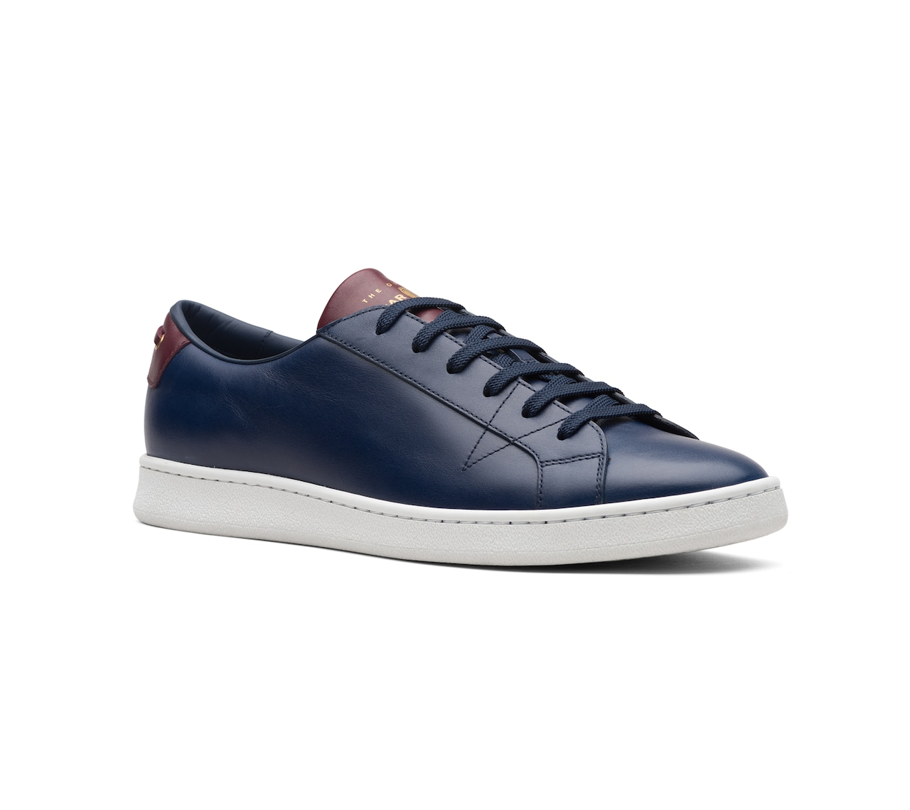 SOFT LEATHER SNEAKERS BLUE