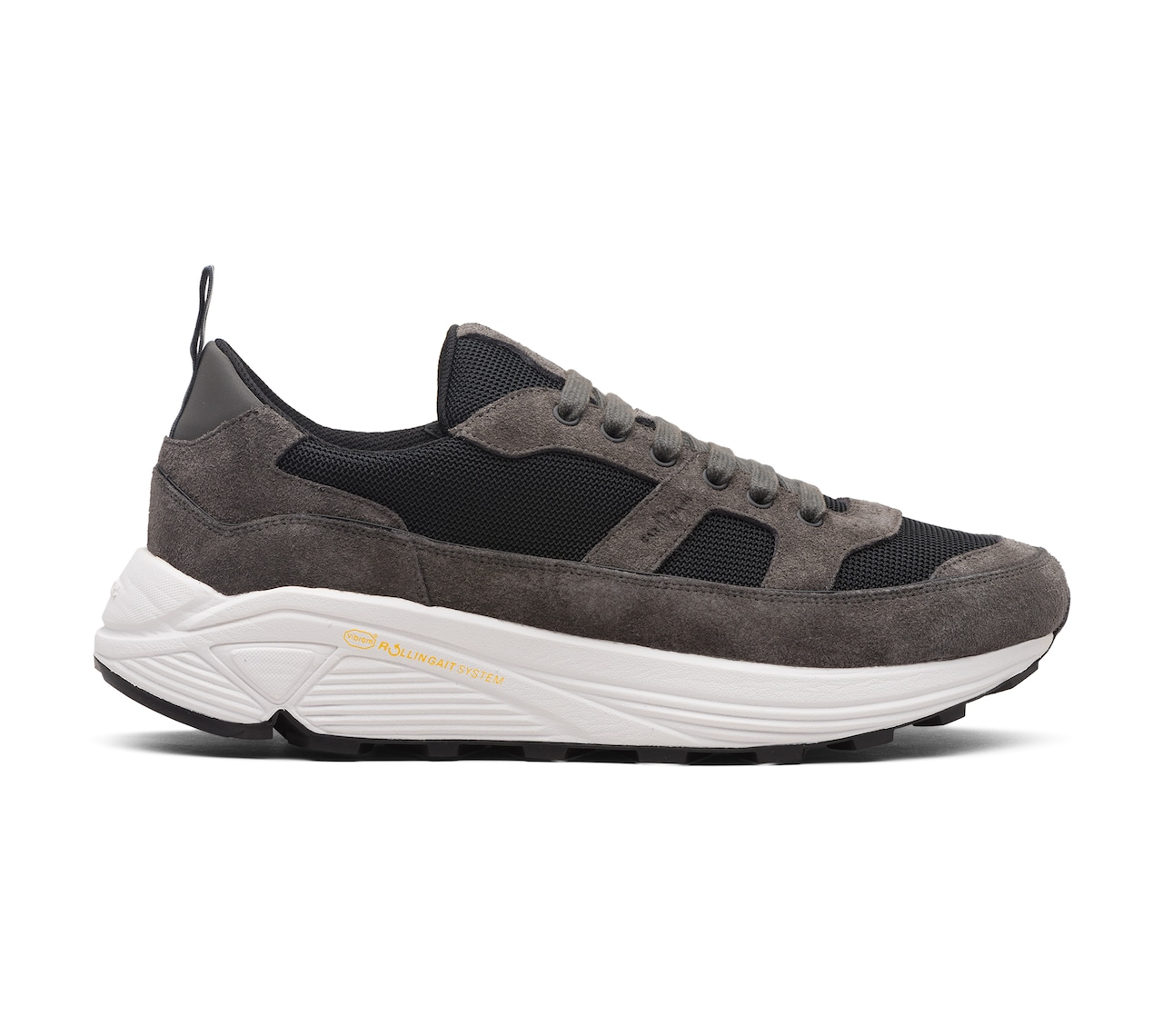 SUEDE+FABRIC SNEAKERS GREY