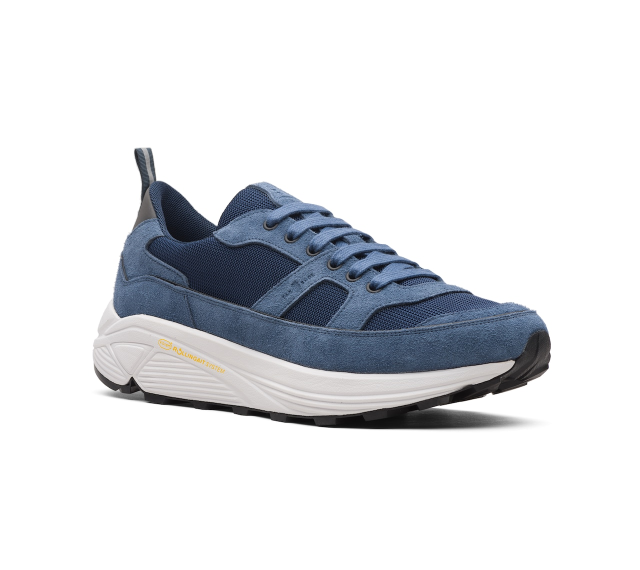 SUEDE+FABRIC SNEAKERS LIGHT BLUE