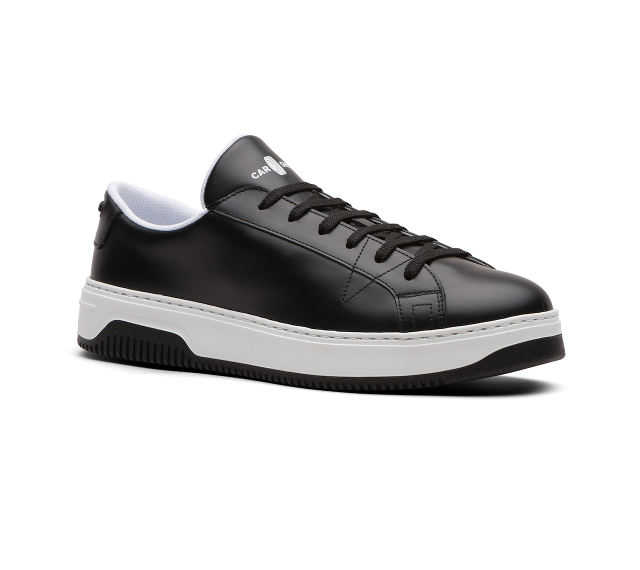 SOFT LEATHER SNEAKERS BLACK