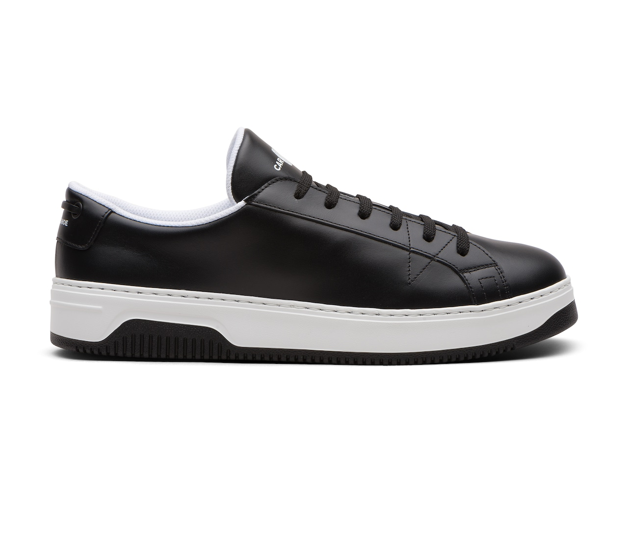 SNEAKERS PELLE MORBIDA NERO