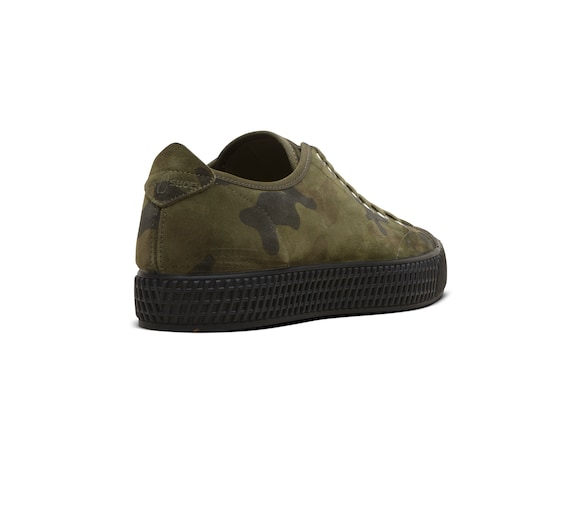 CAMOUFLAGE PRINTED SUEDE SNEAKER