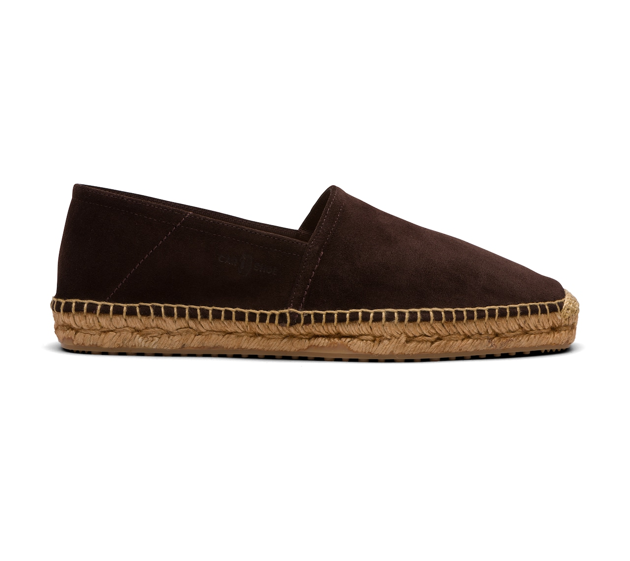 ESPADRILLAS IN UNLINED SUEDE BROWN