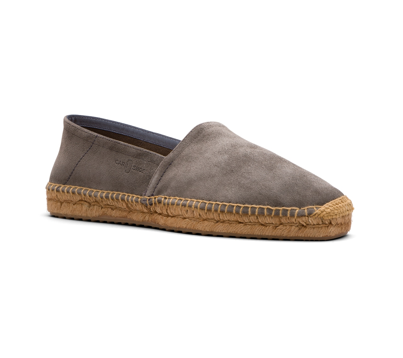ESPADRILLAS IN UNLINED SUEDE GREY