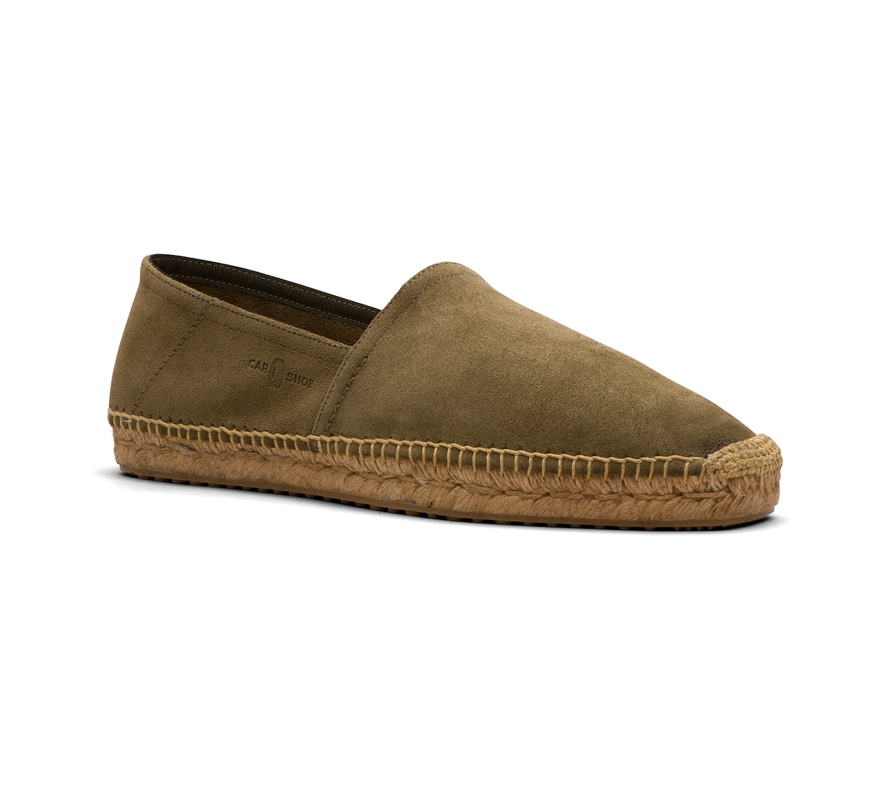 ESPADRILLAS IN UNLINED SUEDE GREEN
