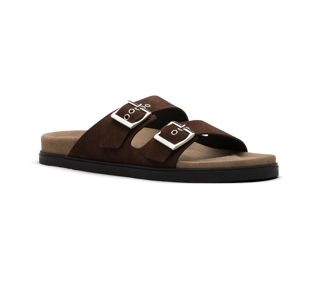 SANDALS IN SUEDE BROWN